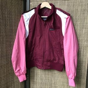 Members Only racer jacket Small Burgundy / Pink